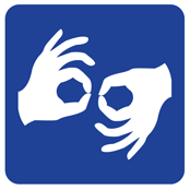 International symbol for sign language interpretation