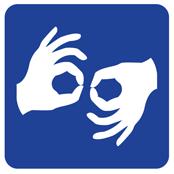 International symbol for sign language interpretation