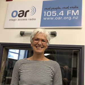 Marina Hanger at interview with Otago Access Radio